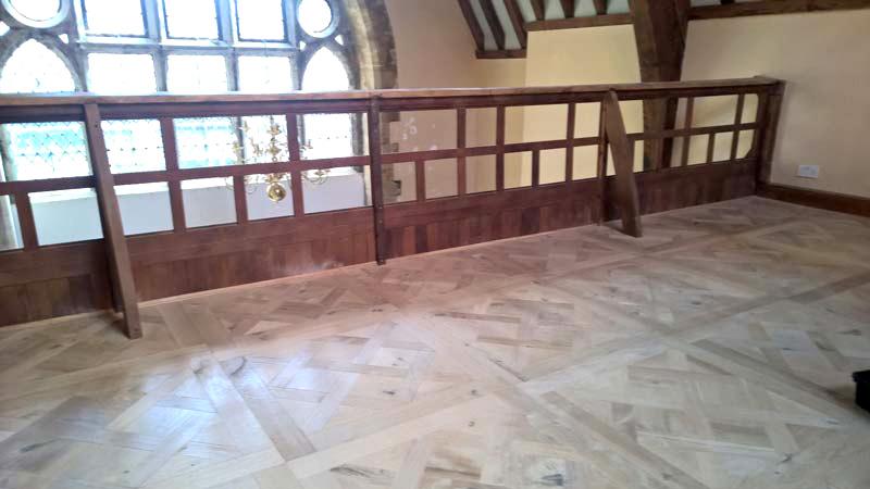 Hardwood floor refurbishment - before